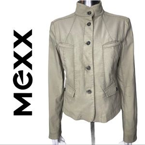Mexx Military Style Fitted Jacket Button Front